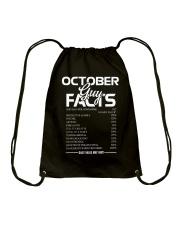 OCTOBER GUY FACTS Drawstring Bag thumbnail