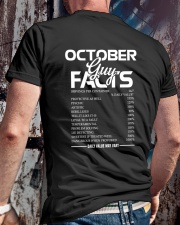 OCTOBER GUY FACTS Classic T-Shirt lifestyle-mens-crewneck-back-2