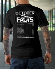 OCTOBER GUY FACTS Classic T-Shirt lifestyle-mens-crewneck-back-3