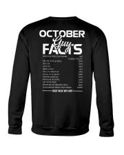 OCTOBER GUY FACTS Crewneck Sweatshirt thumbnail