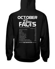 OCTOBER GUY FACTS Hooded Sweatshirt thumbnail