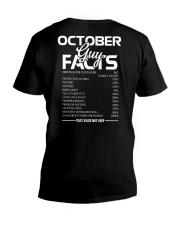 OCTOBER GUY FACTS V-Neck T-Shirt thumbnail