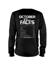 OCTOBER GUY FACTS Long Sleeve Tee thumbnail