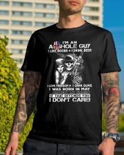 IM AN ASSHOLE MAY GUY Classic T-Shirt lifestyle-mens-crewneck-front-8