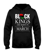 BLACK KINGS ARE BORN IN MARCH Hooded Sweatshirt thumbnail
