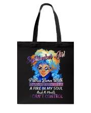 SEPTEMBER GIRL CANT CONTROL Tote Bag thumbnail