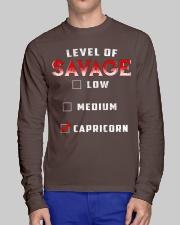 LEVEL OF SAVAGE - CAPRICORN Long Sleeve Tee lifestyle-unisex-longsleeve-front-1