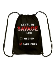 LEVEL OF SAVAGE - CAPRICORN Drawstring Bag thumbnail