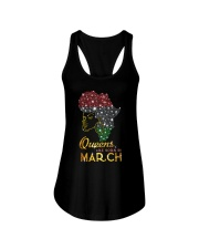 QUEENS ARE BORN IN MARCH Ladies Flowy Tank thumbnail
