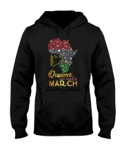 QUEENS ARE BORN IN MARCH Hooded Sweatshirt thumbnail