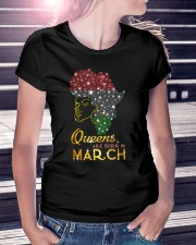 QUEENS ARE BORN IN MARCH Ladies T-Shirt lifestyle-women-crewneck-front-7