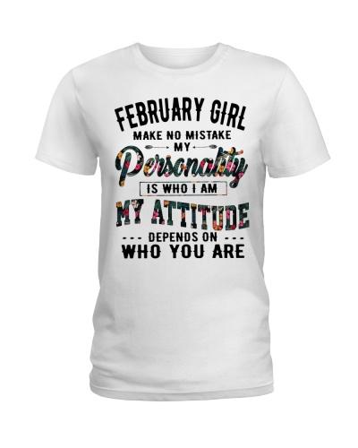 FEBRUARY GIRL MAKE NO MISTAKE