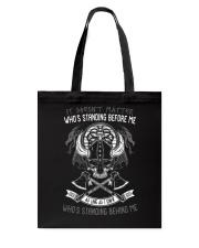 VIKINGS VALHALLA - WHOS STANDING BEHIND ME Tote Bag thumbnail