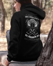 VIKINGS VALHALLA - WHOS STANDING BEHIND ME Hooded Sweatshirt apparel-hooded-sweatshirt-lifestyle-06