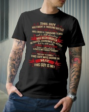 THIS GUY WAS BORN IN MAY Classic T-Shirt lifestyle-mens-crewneck-front-6