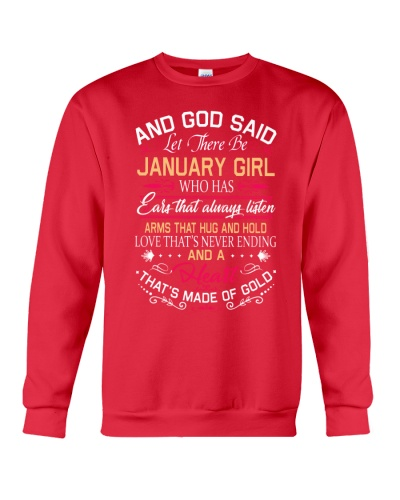 AND GOD SAID LET THERE BE JANUARY GIRL
