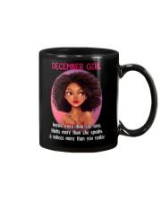 DECEMBER GIRL - KNOWS MORE THAN SHE SAYS Mug thumbnail
