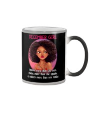 DECEMBER GIRL - KNOWS MORE THAN SHE SAYS Color Changing Mug thumbnail