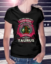 I NEVER SAID I WAS PERFECT - TAURUS Ladies T-Shirt lifestyle-women-crewneck-front-7