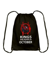 KINGS ARE BORN IN OCTOBER Drawstring Bag thumbnail