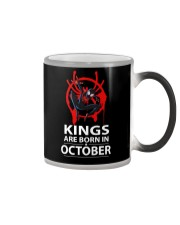 KINGS ARE BORN IN OCTOBER Color Changing Mug thumbnail