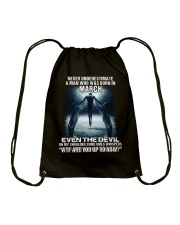 DEVIL WHISPERED - MARCH Drawstring Bag thumbnail