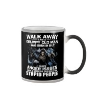 I AM A GRUMPY OLD MAN I WAS BORN IN JULY Color Changing Mug tile