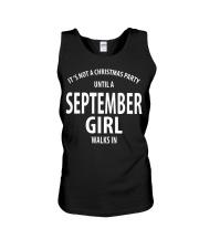 SEPTEMBER GIRL WALKS IN Unisex Tank thumbnail