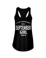 SEPTEMBER GIRL WALKS IN Ladies Flowy Tank thumbnail
