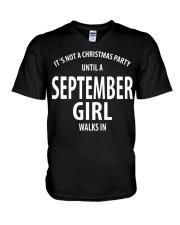 SEPTEMBER GIRL WALKS IN V-Neck T-Shirt thumbnail