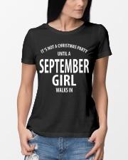 SEPTEMBER GIRL WALKS IN Ladies T-Shirt lifestyle-women-crewneck-front-10