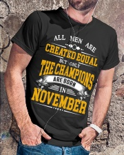 THE CHAMPIONS ARE BORN IN NOVEMBER Classic T-Shirt lifestyle-mens-crewneck-front-4