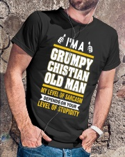 GRUMPY CHISTIAN OLD MAN - WARRIOR OF CHRIST Classic T-Shirt lifestyle-mens-crewneck-front-4