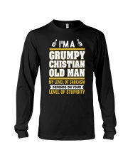 GRUMPY CHISTIAN OLD MAN - WARRIOR OF CHRIST Long Sleeve Tee tile