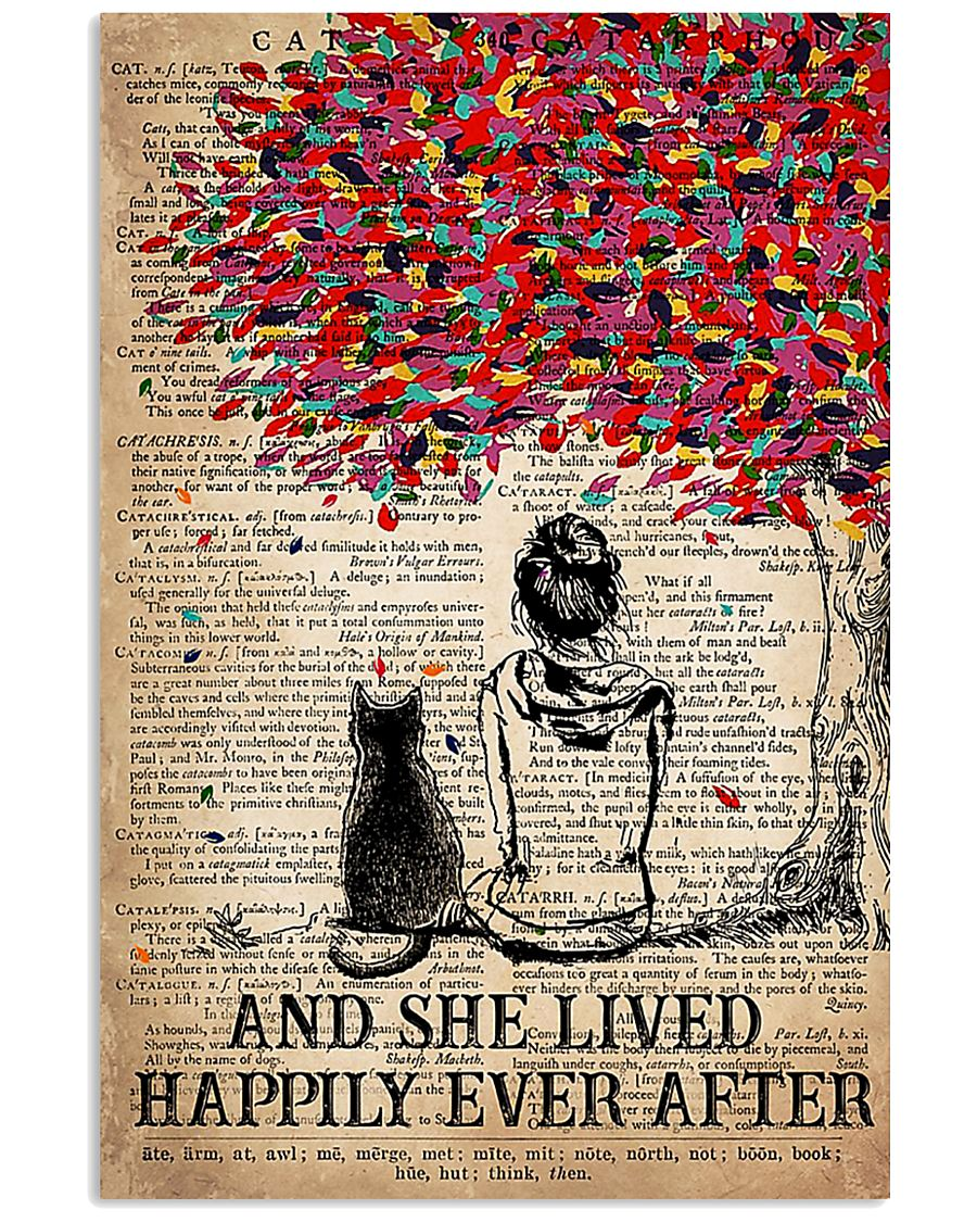 AND SHE LIVED HAPPILY EVER AFTER - CAT 16x24 Poster
