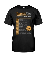 TAURUS FACTS Classic T-Shirt front