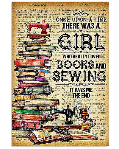 A GIRL WHO LOVED BOOKS AND SEWING
