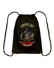 JANUARY GUY WITH THREE SIDES Drawstring Bag thumbnail