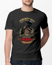 JANUARY GUY WITH THREE SIDES Classic T-Shirt lifestyle-mens-crewneck-front-13