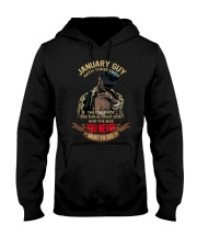 JANUARY GUY WITH THREE SIDES Hooded Sweatshirt thumbnail