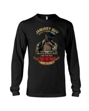 JANUARY GUY WITH THREE SIDES Long Sleeve Tee thumbnail