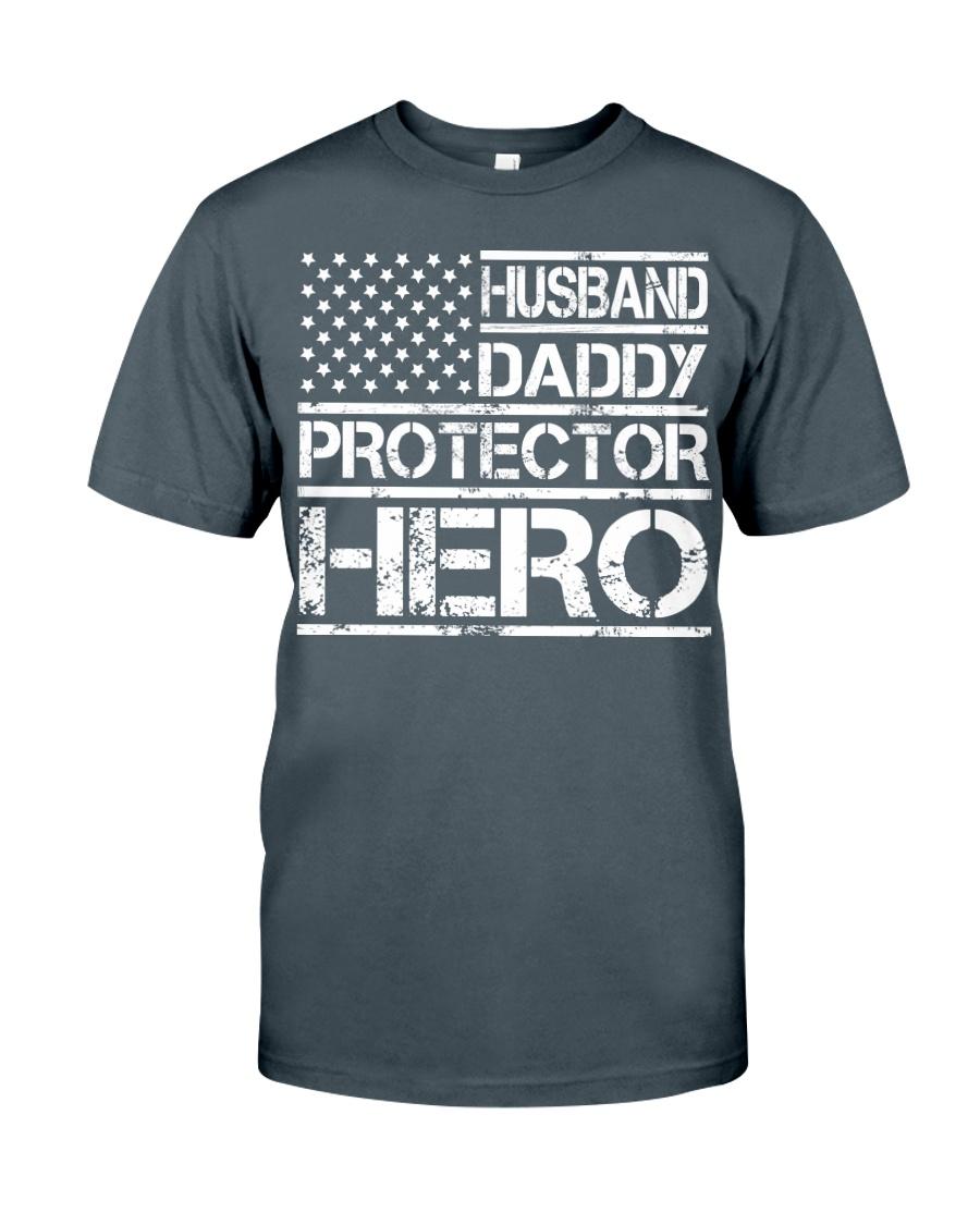HUSBAND DADDY PROTECTOR HERO Classic T-Shirt showcase