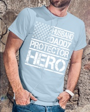 HUSBAND DADDY PROTECTOR HERO Classic T-Shirt lifestyle-mens-crewneck-front-4