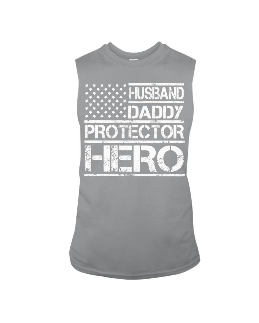 HUSBAND DADDY PROTECTOR HERO Sleeveless Tee