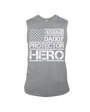 HUSBAND DADDY PROTECTOR HERO Sleeveless Tee front