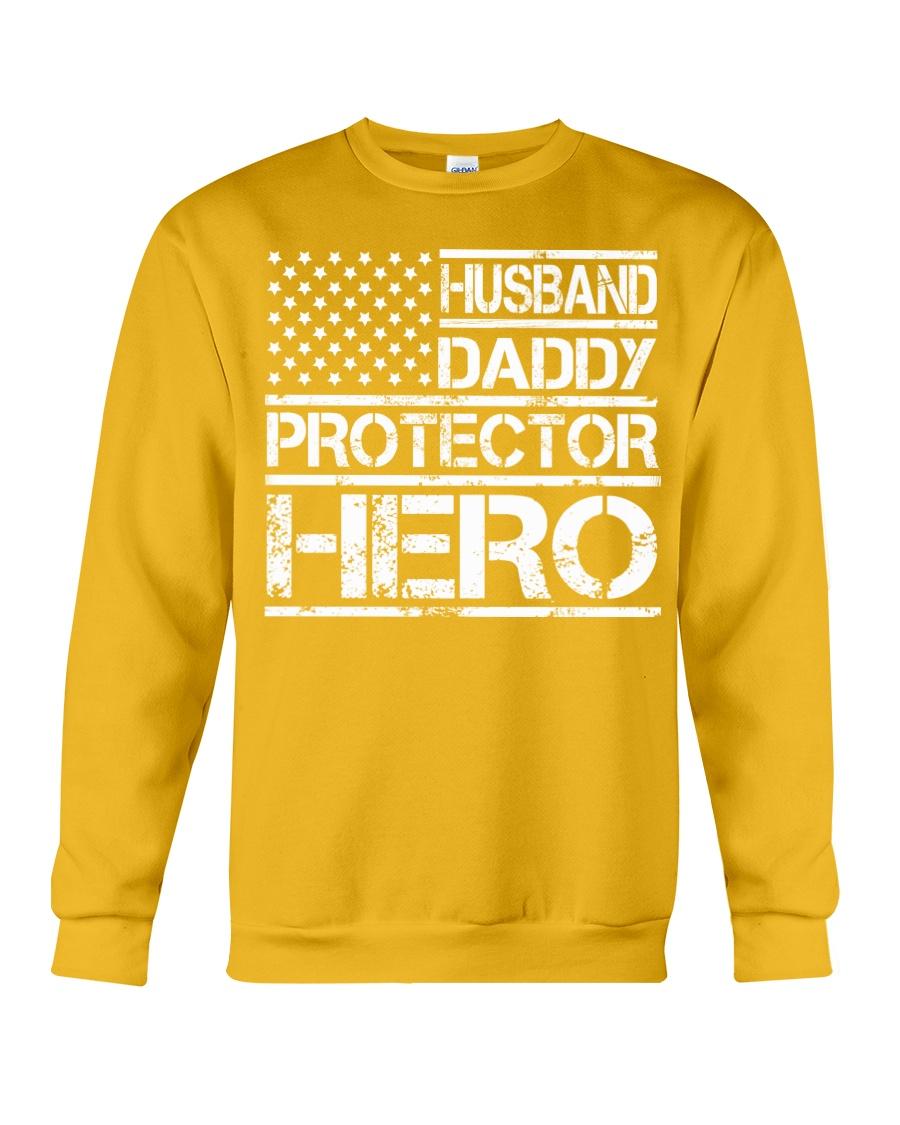 HUSBAND DADDY PROTECTOR HERO Crewneck Sweatshirt showcase