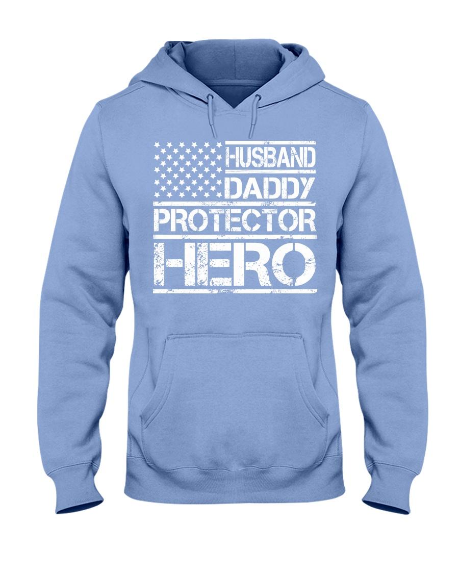 HUSBAND DADDY PROTECTOR HERO Hooded Sweatshirt