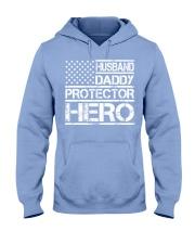 HUSBAND DADDY PROTECTOR HERO Hooded Sweatshirt front