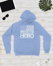 HUSBAND DADDY PROTECTOR HERO Hooded Sweatshirt lifestyle-unisex-hoodie-front-8