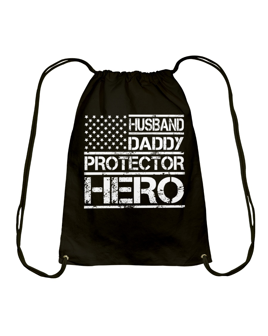 HUSBAND DADDY PROTECTOR HERO Drawstring Bag